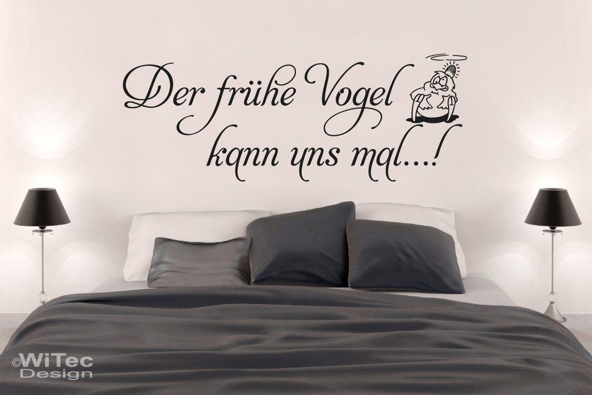 Der frühe Wandtattoo Schlafzimmer Der frühe Vogel kann uns mal...!r