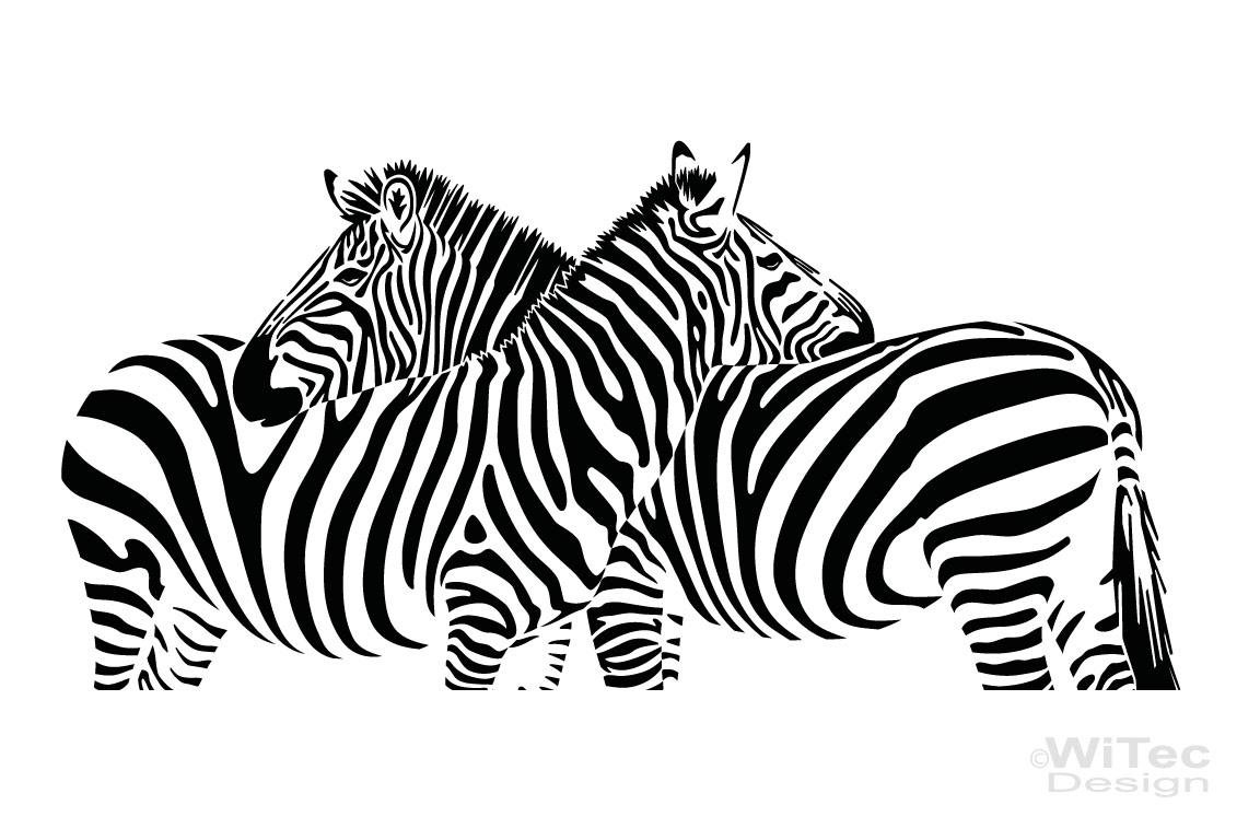 Wandtattoo zebra pferde afrika wandaufkleber - Streifenmuster wand ...