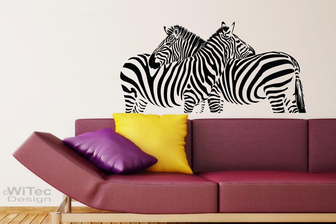 Wandtattoo Zebra Pferde Afrika Wandaufkleber