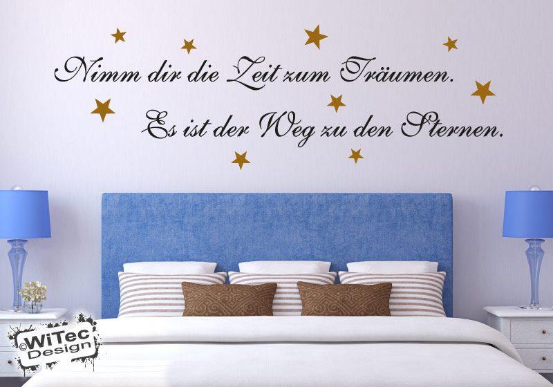 Zeit zum Träumen Wandtattoo Sterne Wandaufkleber