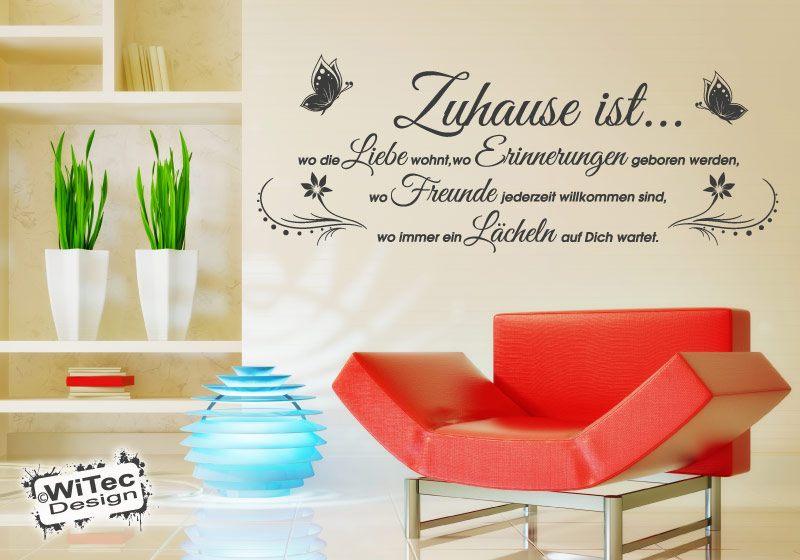 Wandtattoo Spruch Zuhause ist... Liebe Freundschaft