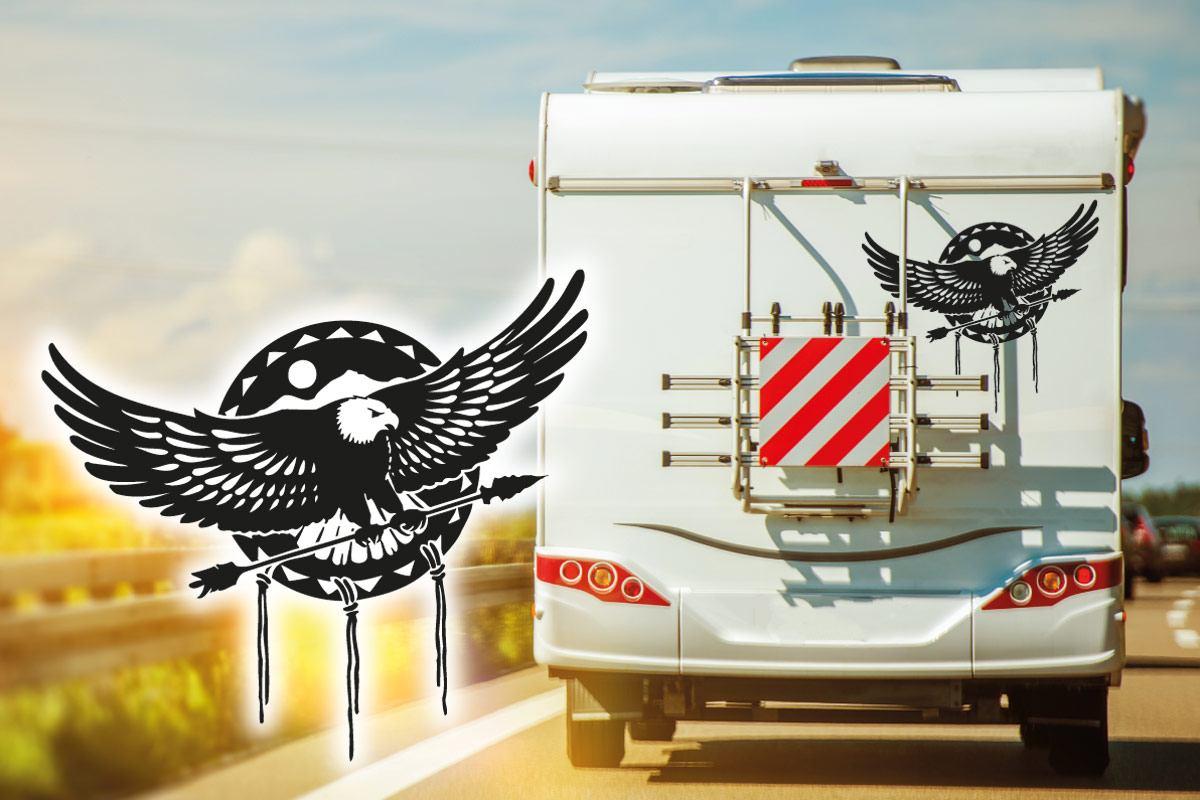 Adler eagle Wohnmobil Aufkleber Sticker