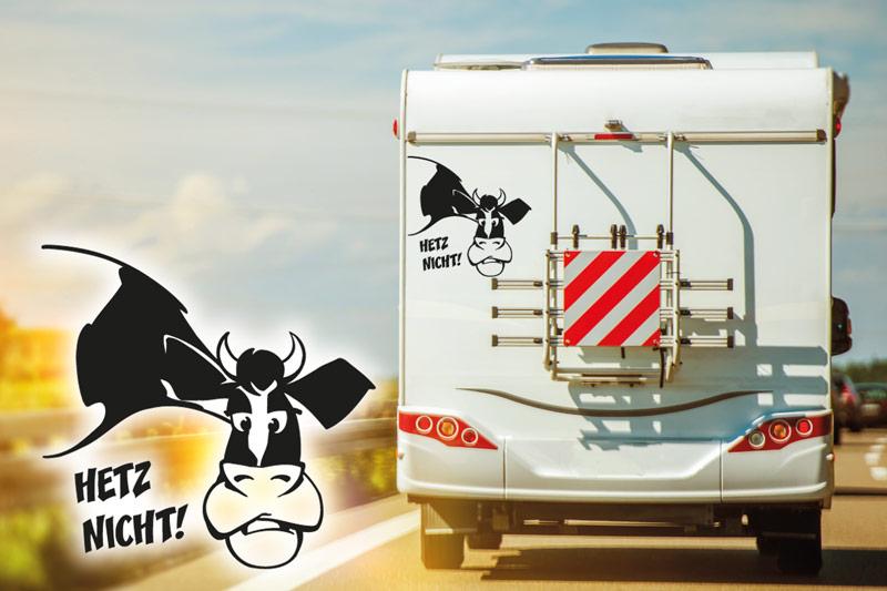 Wohnmobil Aufkleber Hetz nicht Kuh womo
