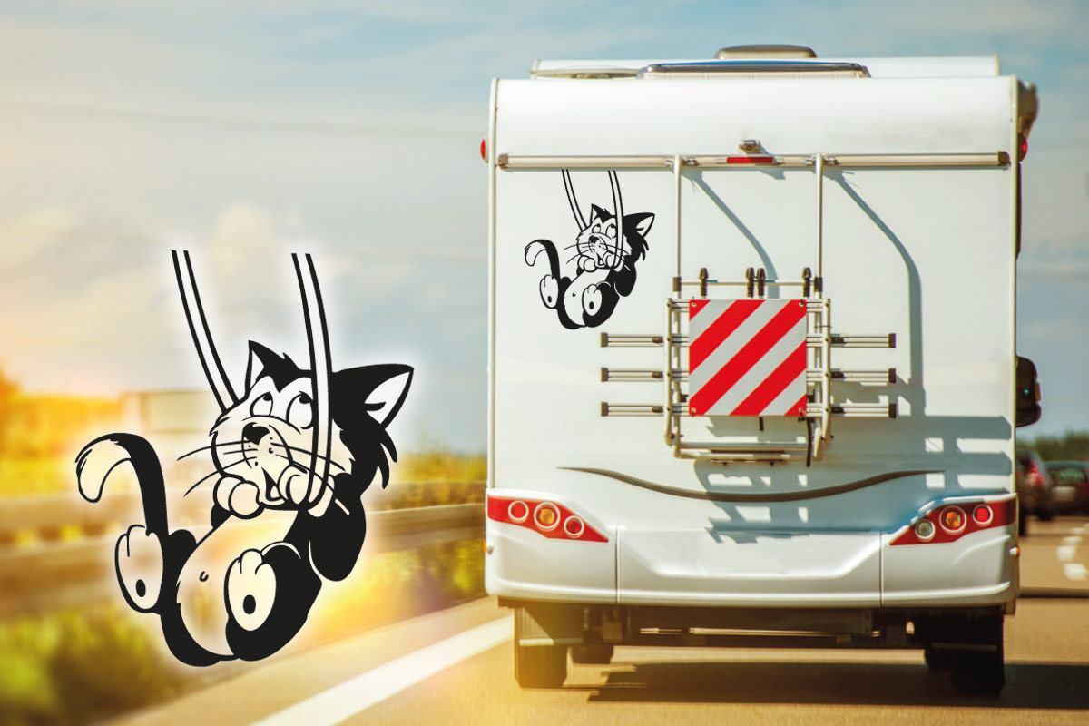 Wohnmobil Aufkleber Katze Kätzchen camper