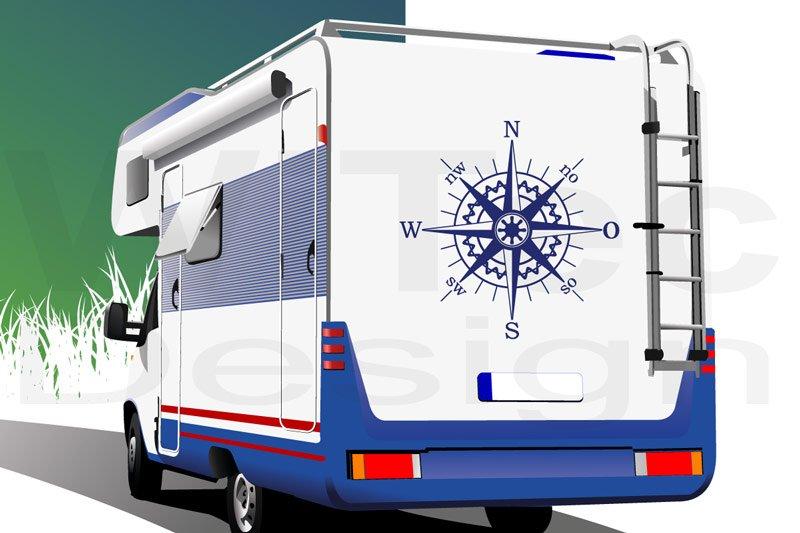 Kompass Wohnmobil Aufkleber Windrose Autoaufkleber