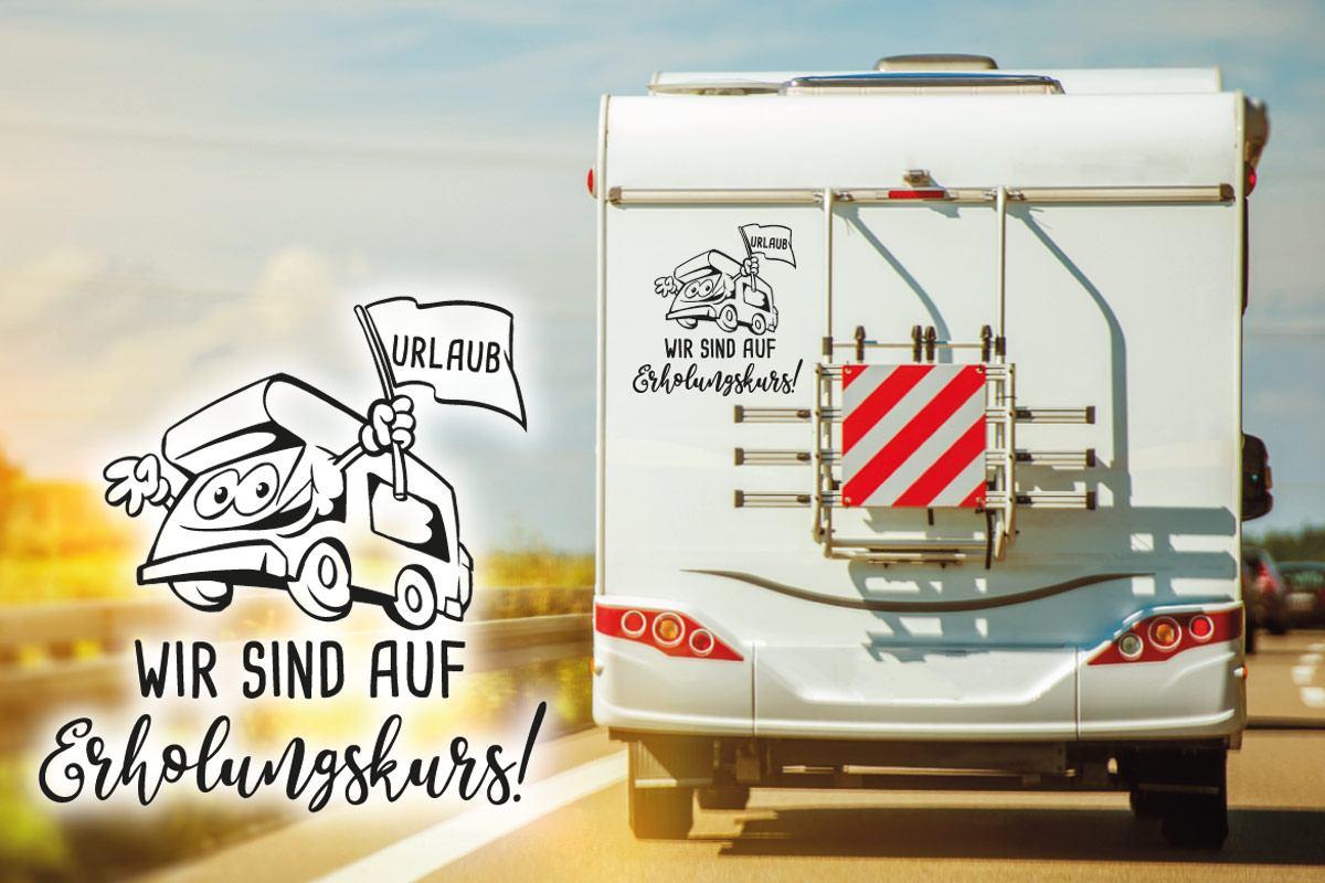 Urlaub Erholungskurs Wohnmobil Aufkleber Sticker