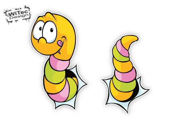 Wurm Aufkleber Sticker für Thermomix