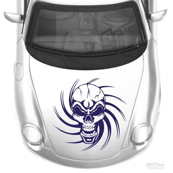 skull tribal tattoo auto aufkleber tolles tattoo fuer die motorhaube