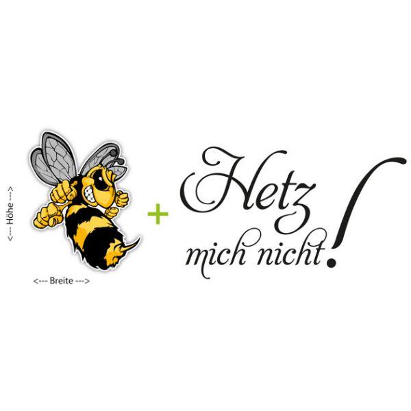 Autoaufkleber Hetz mich nicht! Böse Hornisse Biene Sticker