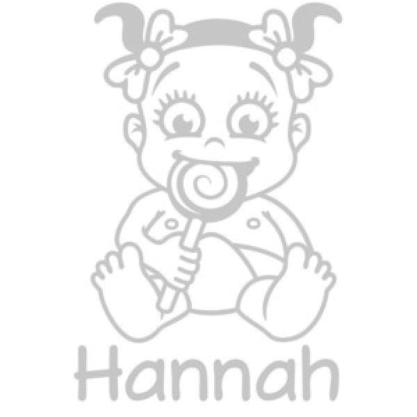 Babyaufkleber Mädchen Lolli Name Autoaufkleber