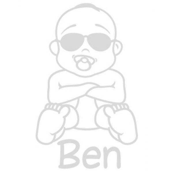 Babyaufkleber Cool Junge Name Autoaufkleber