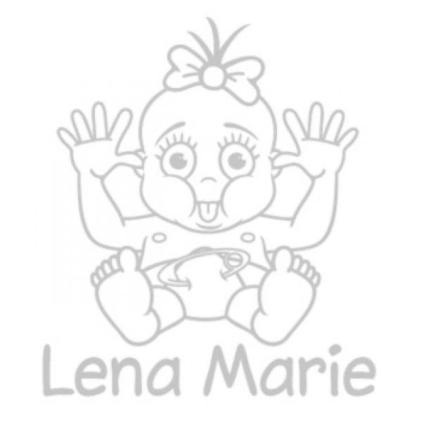 Babyaufkleber Mädchen Name Autoaufkleber Aufkleber