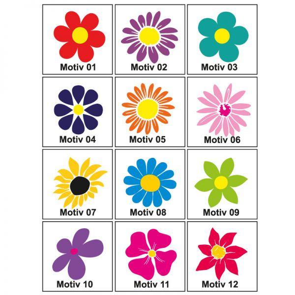 Blumenaufkleber 24 Stück Motivwahl