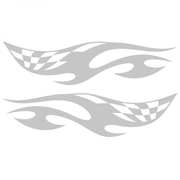 Autoaufkleber Race Flag Tribal Racing Auto Aufkleber 2er