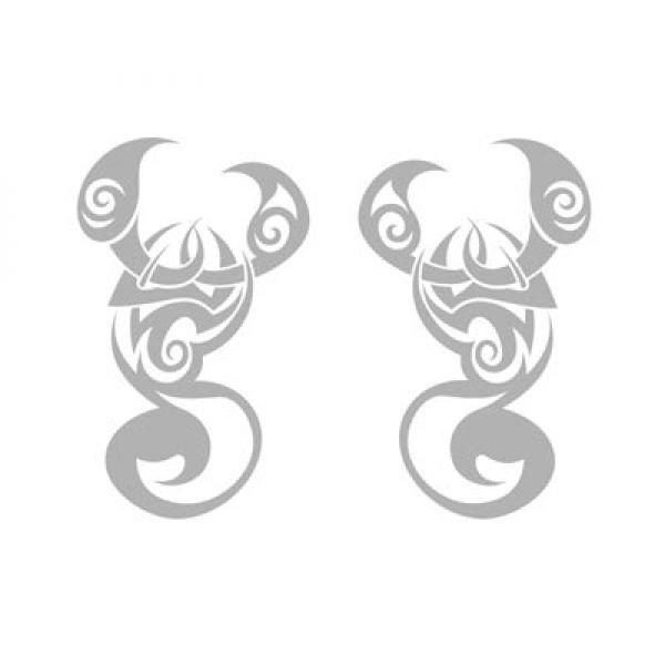 Autoaufkleber Skorpion Tribal 2er Auto Aufkleber