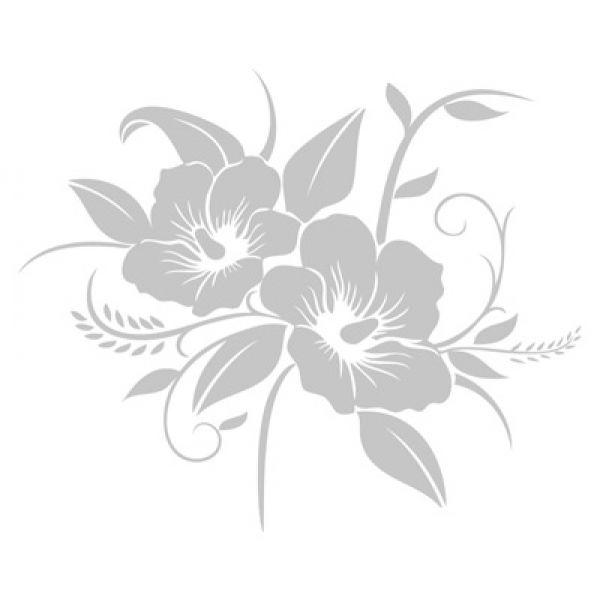 Briefkastenaufkleber Hibiskus Dekoaufkleber Blumenaufkleber