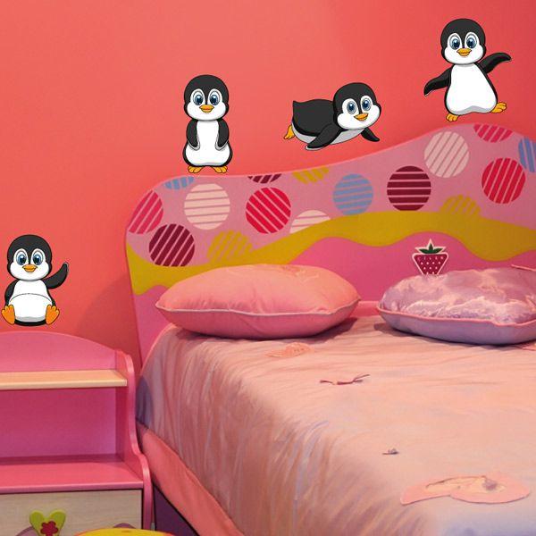 baby pinguine pinguin wandaufkleber wandtattoo sticker. Black Bedroom Furniture Sets. Home Design Ideas
