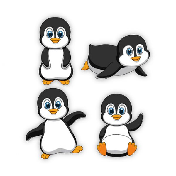 Baby pinguine pinguin wandaufkleber wandtattoo sticker - Wandaufkleber baby ...