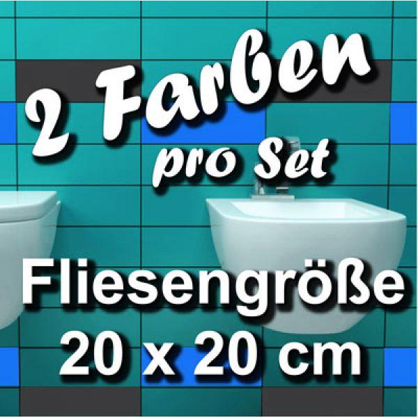 fa704 fliesenaufkleber 1qm fliesenfolie badezimmer 20x20. Black Bedroom Furniture Sets. Home Design Ideas