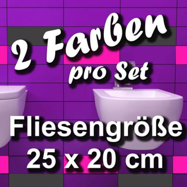 fa705 fliesensticker 1qm fliesendekor bad deko 25x20. Black Bedroom Furniture Sets. Home Design Ideas