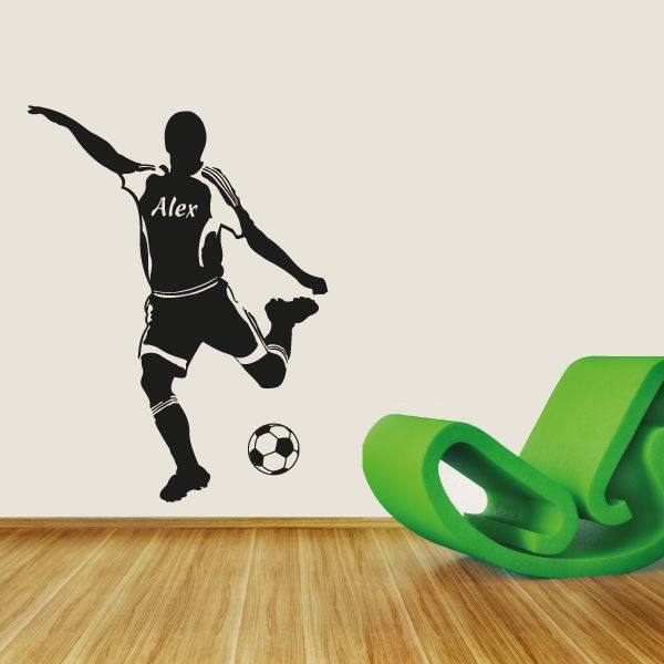 Fußballer Name Wandtattoo Fussball Wandaufkleber Kinderzimmer