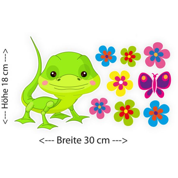 Gecko Gekko Blumen Schmetterling Autoaufkleber Auto Aufkleber
