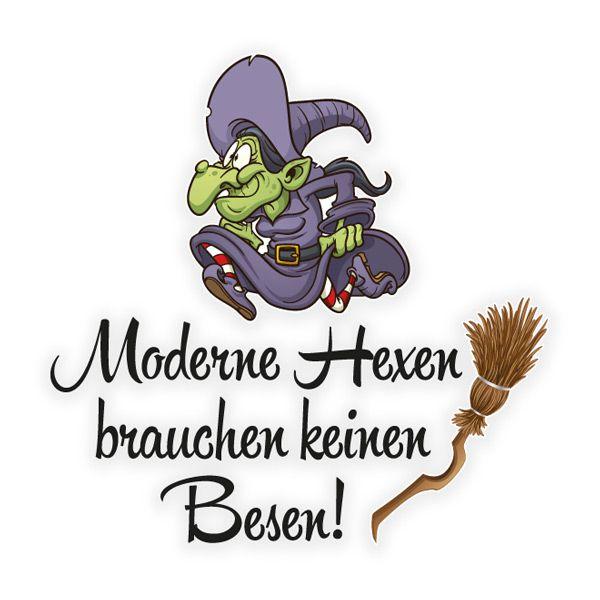 Moderne Hexen Autoaufkleber Besen Aufkleber Auto Hexe Gothic Sticker