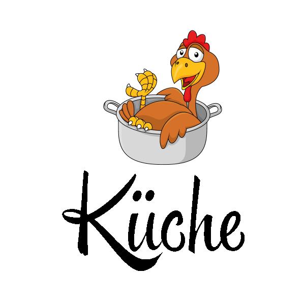 Kinderzimmer kinderzimmer braun grün : Türaufkleber Küche Hahn Gockel Huhn Kochtopf Türtattoo