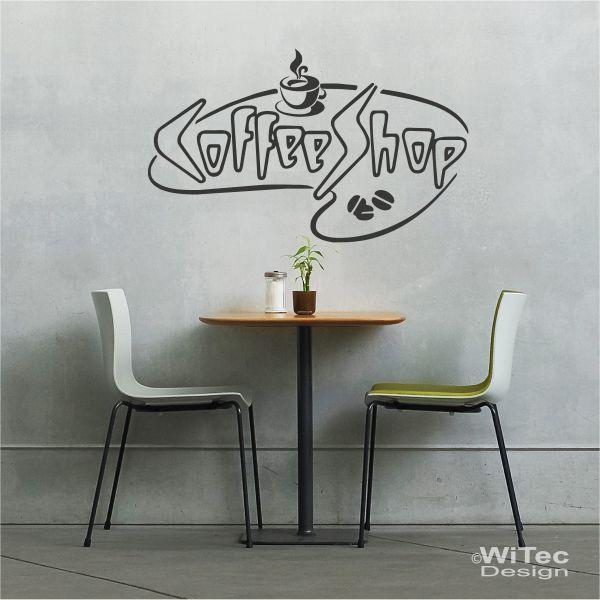 wandtattoo kaffee k che coffee shop wandaufkleber. Black Bedroom Furniture Sets. Home Design Ideas
