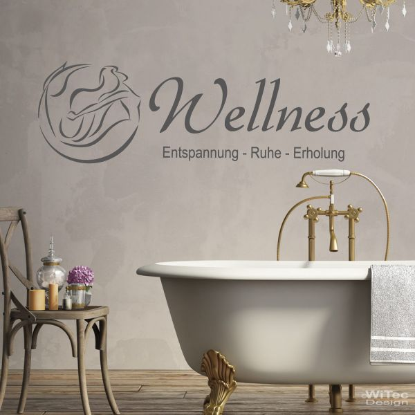wa258 wandaufkleber wellness wandtattoo badezimmer. Black Bedroom Furniture Sets. Home Design Ideas