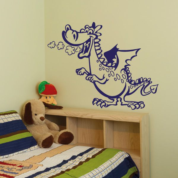 wa271 wandaufkleber drache wandtattoo kinderzimmer. Black Bedroom Furniture Sets. Home Design Ideas