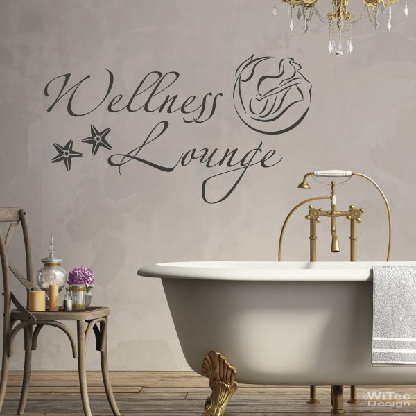 wa275 wandaufkleber wellness lounge wandtattoo bad. Black Bedroom Furniture Sets. Home Design Ideas