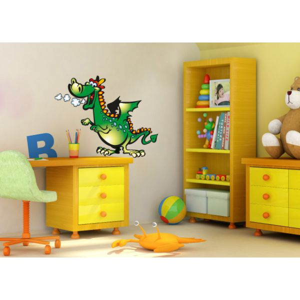 wa351 wandtattoo drache kinderzimmer wandaufkleber. Black Bedroom Furniture Sets. Home Design Ideas