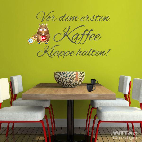 wandtattoo kaffee eule wandaufkleber k che. Black Bedroom Furniture Sets. Home Design Ideas