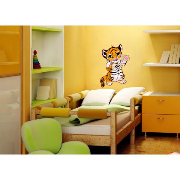 wandtattoo tigerbaby tiger kinderzimmer wandaufkleber. Black Bedroom Furniture Sets. Home Design Ideas