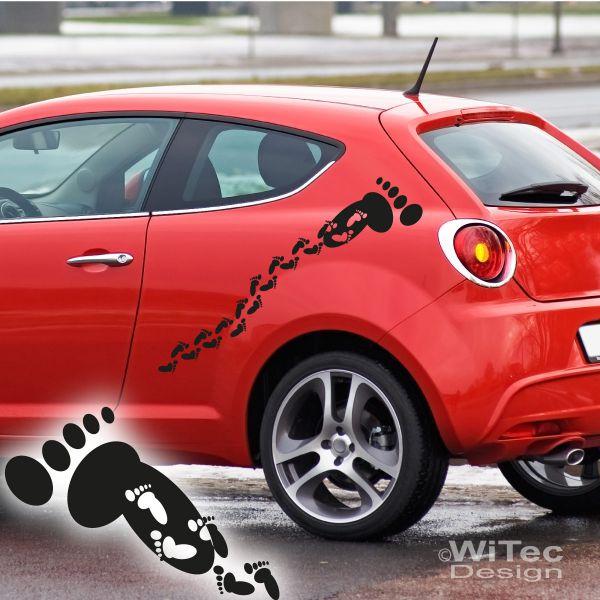 Autoaufkleber füße füsse auto aufkleber set