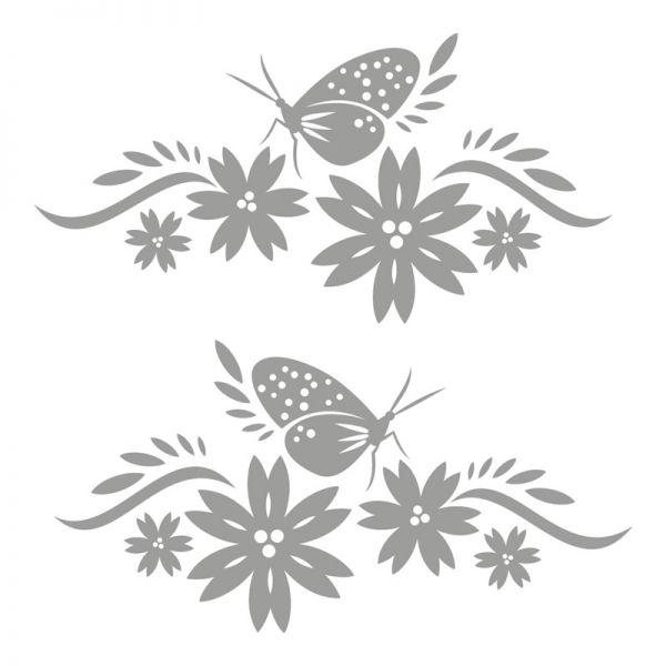 Autoaufkleber Blumen Schmetterling Aufkleber 2 Stück