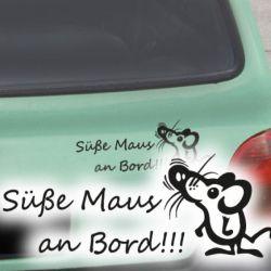 Autoaufkleber Süße Maus an Bord! Auto Aufkleber Sticker