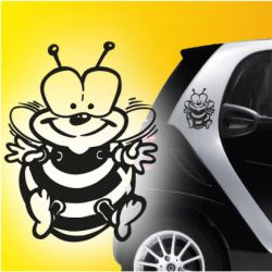 Auto Aufkleber Biene Bienen 2er SET