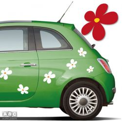 Autoaufkleber Blumen Aufkleber Blumenaufkleber SET 10