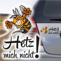 Autoaufkleber Hetz mich nicht Böse Hornisse Biene Wespe Sticker