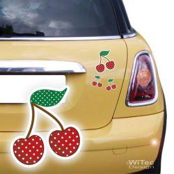 Autoaufkleber Kirschen Rockabilly SET Aufkleber Auto Sticker