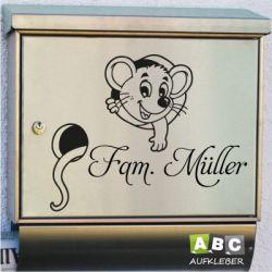 Briefkastenaufkleber Namen Dekoaufkleber Maus