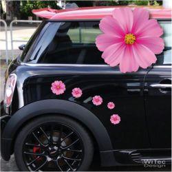 Blumenaufkleber Autoaufkleber Blumen Blütenzauber