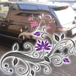 Blumenranke Autoaufkleber Blumen Aufkleber Ranken Auto