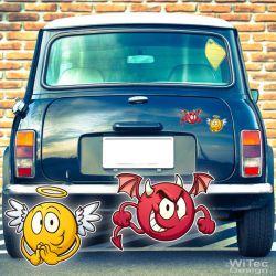 Engel Teufel Autoaufkleber 2er Aufkleber Auto Sticker Autosticker