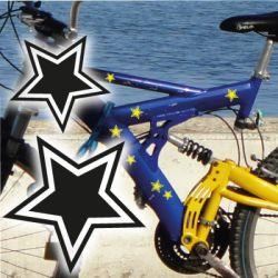 Fahrradaufkleber Sterne SET Aufkleber Sticker