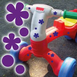 Fahrradaufkleber Blumen Punkte Fahrrad Aufkleber Kinder