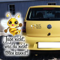 Jage nicht Autoaufkleber Hornisse Biene Wespe Aufkleber Auto