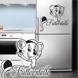Kühlschrankaufkleber Futterstelle Dekoaufkleber Maus